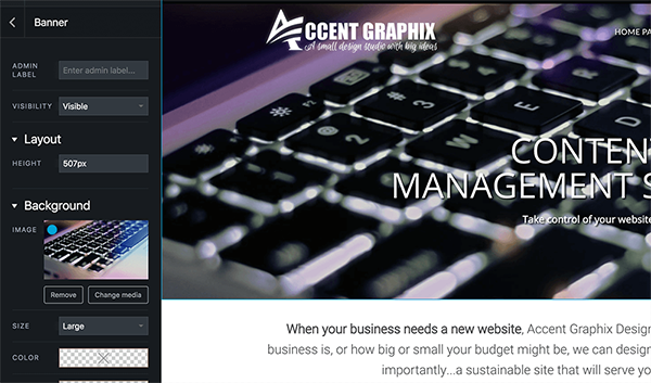 content management system accent graphix madison wi
